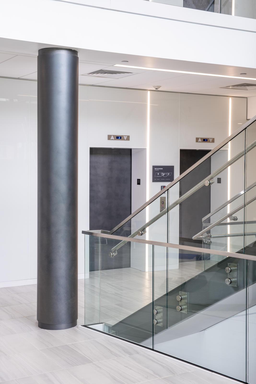Elevator Doors in Elemental Carbon