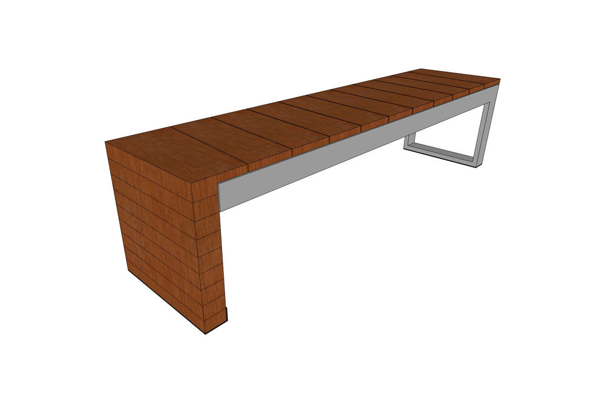 Duo Bench Outdoor Forms Surfaces