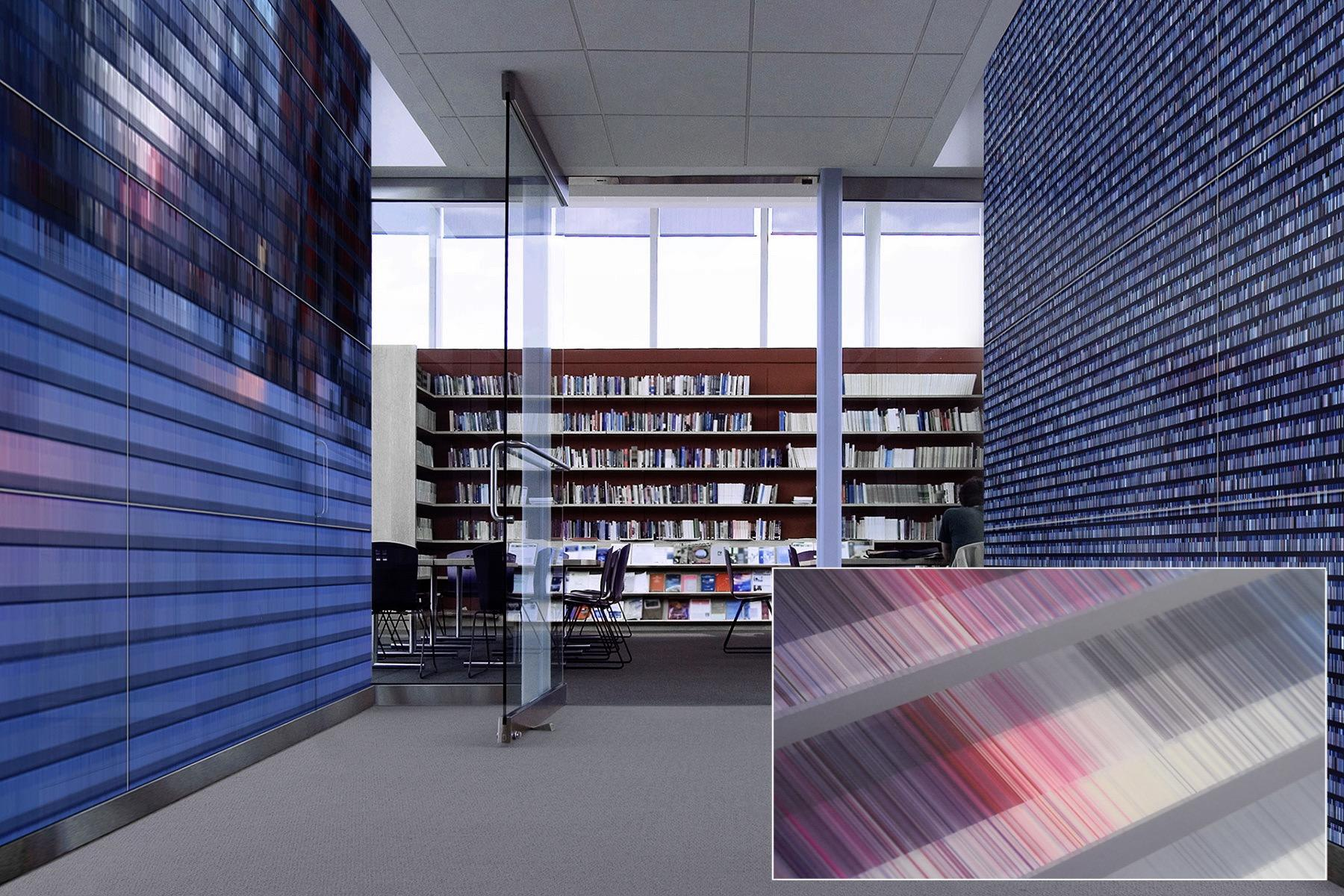 Partition walls in public library