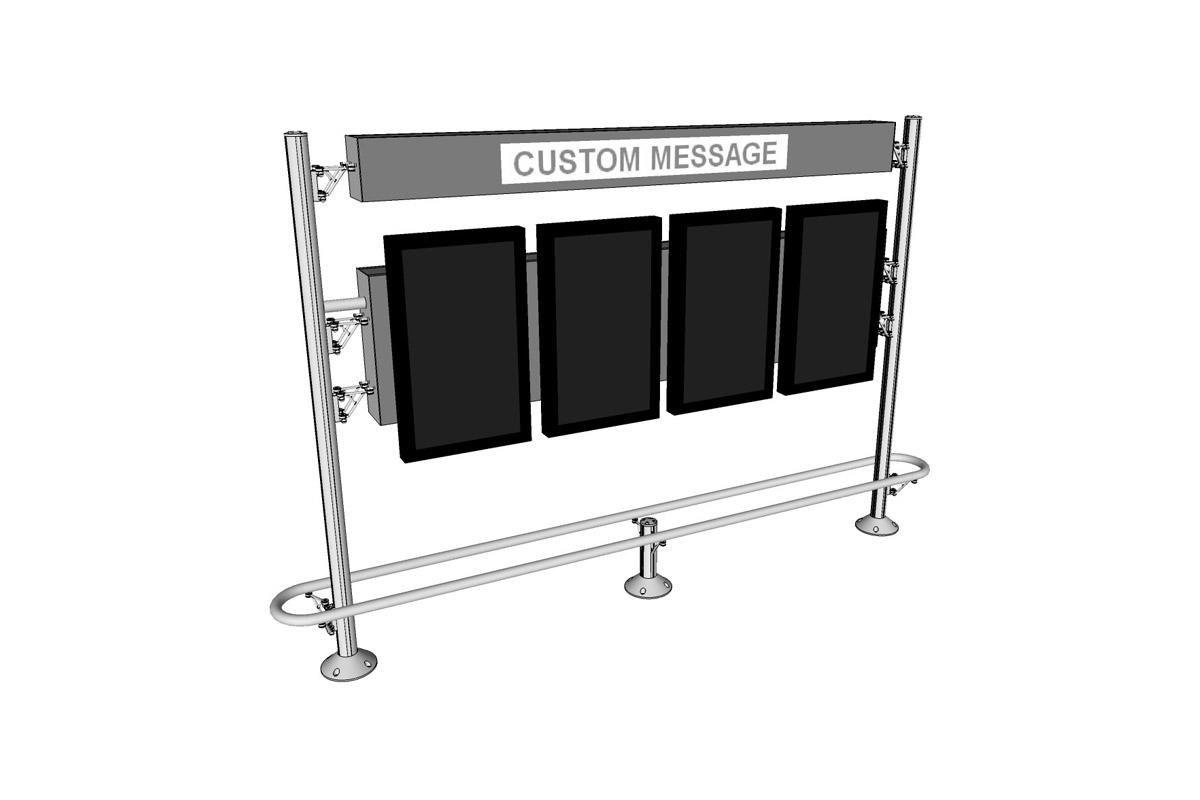 InForm Information Display System: dual, Conceal, bumper, header, four monitors