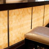 Bar front in backlit ViviStone Honey Onyx