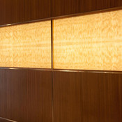Accent wall in backlit ViviStone Honey Onyx