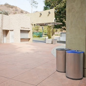 Universal Receptacles shown in 36-gallon, top-opening, single-stream lid configu