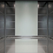 LEVELe-107 Elevator Interior with customized panel layout: panels in Stainless S