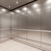 CabForms 1000-A Elevator Interior in Stainless Steel with Seastone finish