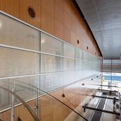 Windows in ViviForm Impression glass in Kalahari pattern at Duluth International