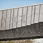 Bridge upper panels in Stainless Steel with Sandstone finish and custom Eco-Etch