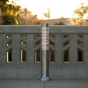 Light Column Bollard shown with 360 degree Scape shield