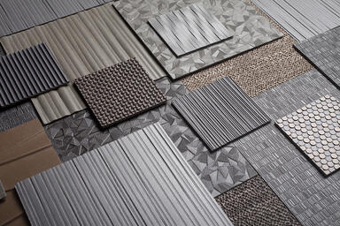 Bonded Metal patterns: Kalahari, Charleston, Waterfall, Glint, Grass, Current