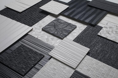 Bonded Quartz patterns: Dune, Current, Grass, Dash, Tilt, Crinkle, Glint, Carbon