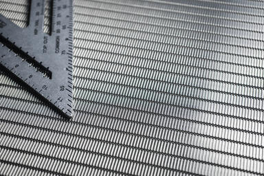 Linq Woven Metal shown with Echo CrossLinq pattern in Stainless Steel
