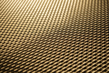 Linq Woven Metal shown with Wave CrossLinq pattern in Brass