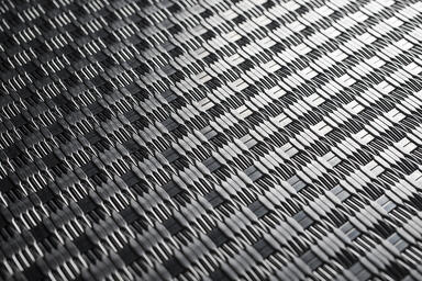 Linq Woven Metal shown with Rhythm CrossLinq pattern in Stainless Steel