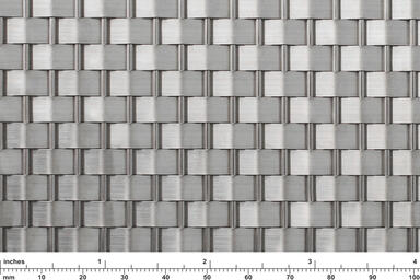 Linq Woven Metal shown with Wave CrossLinq pattern in Stainless Steel