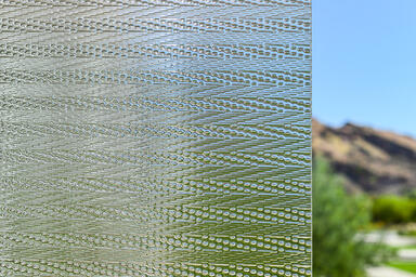 BermanGlass Intervals Kiln Cast Glass in Octave texture