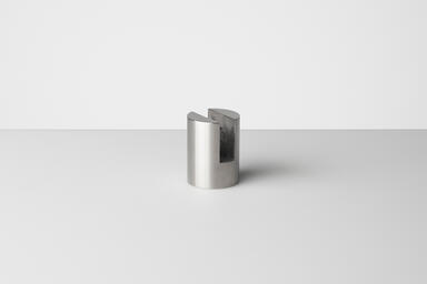 "Slot Mount Standoff shown in Satin Stainless Steel (US32D). Size 1/4"" (6.3 mm)"
