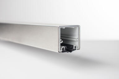 Tapered Rail System, Top Rail shown in Satin Stainless Steel (US32D)