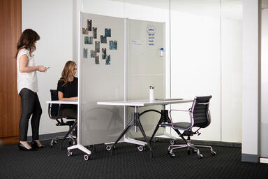 Jot Mobile Glassboards with Diamalite Glass