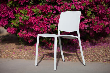 Avivo Chair shown with Cream Texture powdercoat