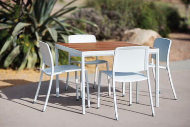 Avivo Chairs shown with Avivo Table