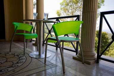 Bantam Chairs shown in Lime