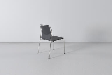 Factor Chair shown in formed aluminum seat and back configuration with Black