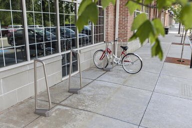 Summit Bike Racks shown in surface mount configuration