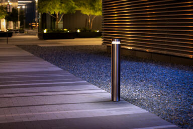 Helio Bollard in Stainless Steel with Satin finish