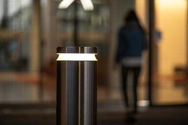 Helio M30/K4 Security Bollard in Stainless Steel with Satin finish