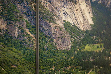 Detail of LightPlane Panels in ViviSpectra Zoom glass with Yosemite Valley inter