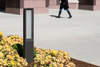 Tangent Bollard shown with Slate Texture powdercoat