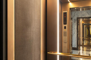 LEVELe-105 Elevator Interior with customized panel layout; Capture panels in Fus