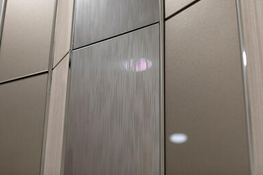 Accent panels shown in Stainless Steel with Mirror finish and Current Eco-Etch p