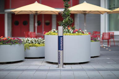 Light Column Bollard in Stainless Steel with Satin finish