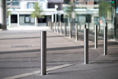 Light Column Bollards in Stainless Steel with Satin finish