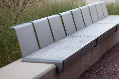 Vector Seating System in custom powdercoat, shown with seat backs, FSC® 100%