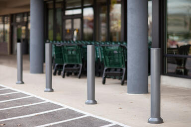 Light Column Bollards in custom powdercoat, shown in non-illuminated configurati