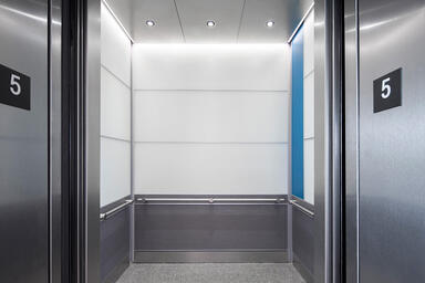 LEVELe-104 Elevator Interior with customized panel layout