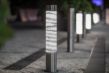 Custom Light Column Bollards in Stainless Steel with Satin finish