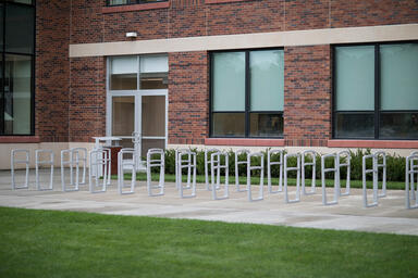 Cordia Bike Racks shown with Aluminum Texture powdercoat