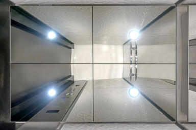 Elevator ceiling in Stainless Steel with Mirror finishe