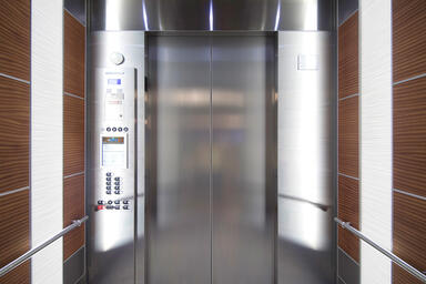 LEVELe-107 Elevator Interior with customized panel layout