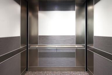 LEVELe-102 Elevator Interior with Capture panels, panels in Bonded Aluminum