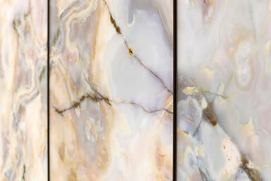 LightPlane Panels in ViviStone Opal Onyx glass with Pearlex finish
