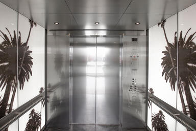 LEVELe-106 Elevator Interior with customized panel layout; LightPlane Panels in