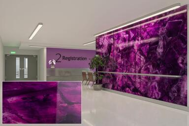 ViviSpectra Zoom glass with Magenta Amethyst interlayer