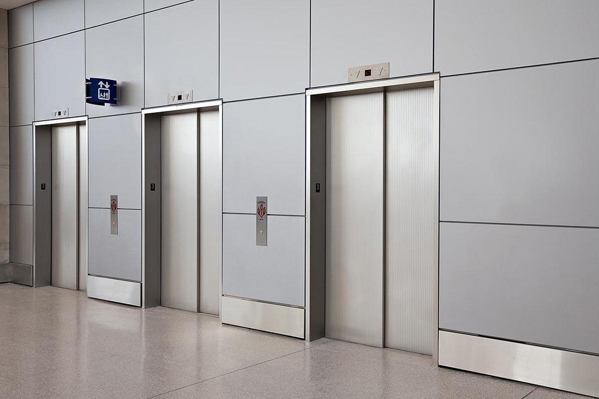 800 #6D645E Stainless Steel Elevator Doors In Seastone Finish With Dallas  pic Steel Doors Dallas 13111200