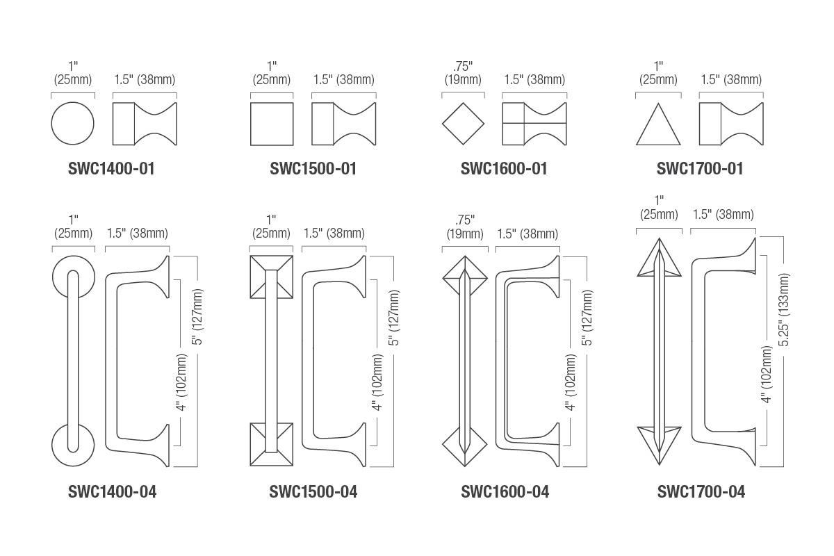 Sweep Cabinet Pulls Architectural Forms Surfaces