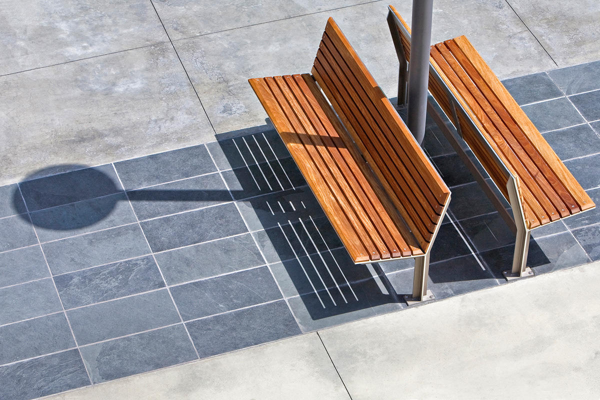 Knight Benches, 6 foot, backed, powdercoated frames, FSC 100% Ipé slats