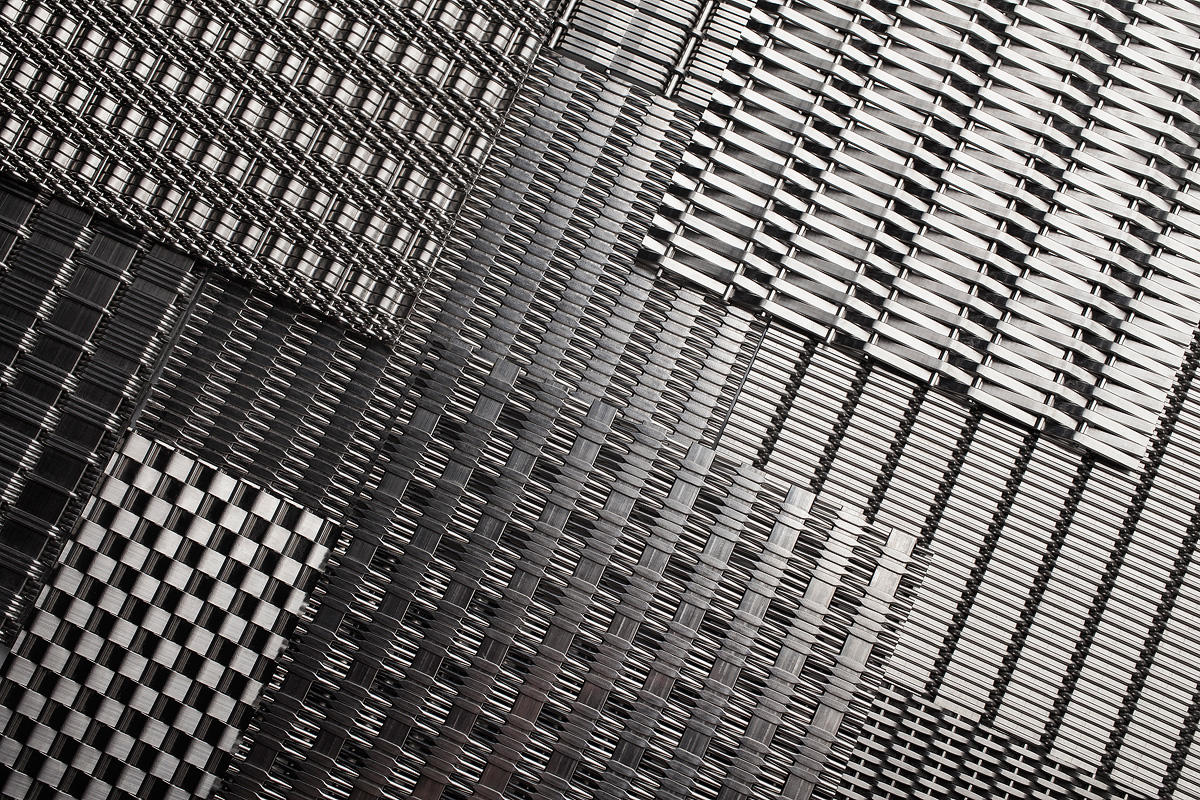 Linq Woven Metal Architectural Forms Surfaces